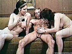 Shocking Vintage Hardcore Video Clip Of 1960s Where Two Naked Teen Girls