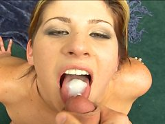 Pretty Fat Chick Lisa Marie Swallowing Fresh Cum Dripping From Brandon