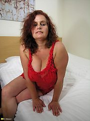 Huge Titted German Housewife Loves Playing Around On Her Bed
