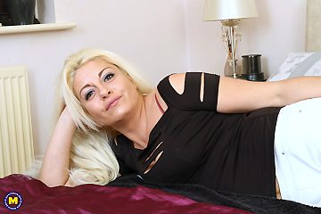 This very lovely milf loves playing alone