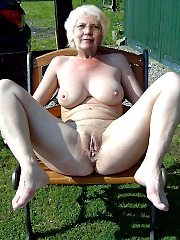Nudist grandmothers near their houses - mature naturists