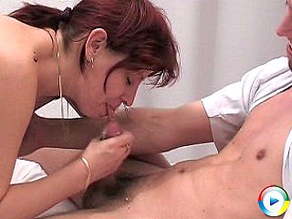 Two bi guys are having raw anal with one huge mature cunt