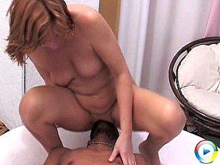 This small european mature blond babe seducing a big its black silicon c