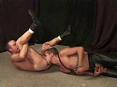 Leather wolf, gay dvd movie, gay hardcore ladyboy sex instructional vide