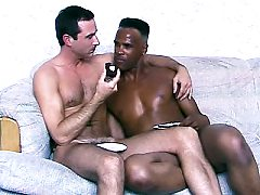 Horny animated black gay Winston Love sizes up as my supersexy white don