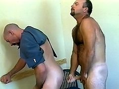 Horny police officers stuffing their husbands dicks into cats ass