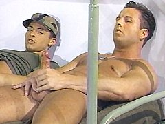 Tough looking military gays Vince rockland and his mates sho...