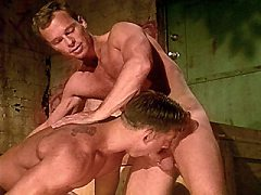 Cum-loving gay receiving a hard drilling oil from behind.