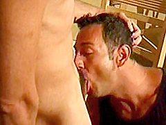 Hard muscled gays Matt Fuller and Michael Vista taking turns...