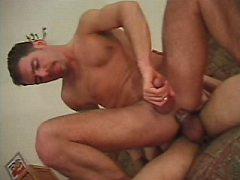 Muscular gay hunks wanking his hard meaty dick inside ass