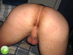 Huge freak of cock out for this hairy gay bitch