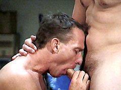 Horny gays Karl and Dan sucking off rock hard dicks and flex.