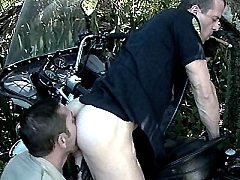 Macho gays Jean shorts and tera Patrick sizing up meaty pricks with big