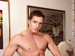 Gay bodybuilders Kody Field and young Tom White enjoy a leisurely fuck d