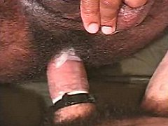Muscled ebony and ivory gay bear couple inyense ass pum...