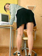 stockings,office,secretary