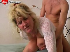 What perfection now he is mommy doing it balls deep with trimmed upskirt