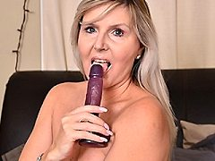 Naughty Canadian housewife playing dirty with wetness wiht her mature pu
