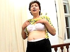 Juicy Old Russian Mature Naughty Stocking Shows Pussy