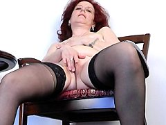 Horny lonely mature naughty trimmed shy pussy thoroughly examined by thr