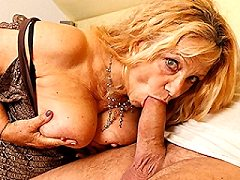 Horny european mature tanned busty young hairy blond runner babe looking