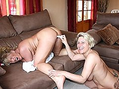 Two big horny german lesbian lesbians babes getting each other's pus