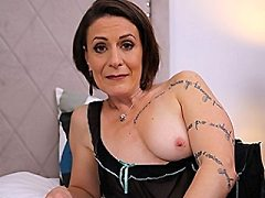 Sexy French Milf seductress plays pantyhose ashley shows them cums all v