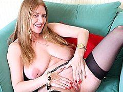 Horny british blonde milf facefucked hardcore housewife daniella shows b