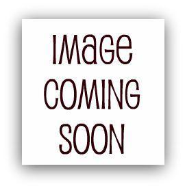Busty September Brunette girl in stripping red white mini blue bikini