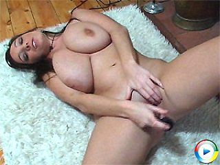 Michelle Monghan plays with her massive tits and dildo then fucks