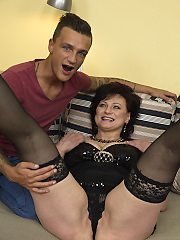Naughty milf housewife is playing with dildoin her fav toy boy