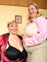 June and Karen Breast Friends