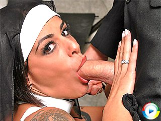 Big oiled tits nun Victoria Get fucked by one lucky priests big stiff co