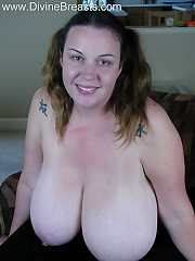 Angelica Pulls Her Large Firm Breasts