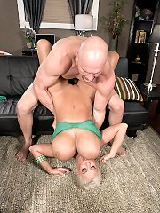 Hot bodied blonde MILF with massive babe gets massive nipples pinched du