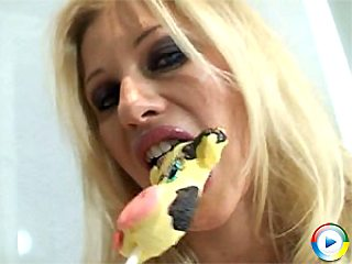 Nikita Valentin plays with melons and tit fucking iced lolly