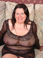 Plumper Angel plays nasty with after her massive juggs videos and dildo