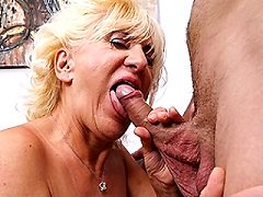Horny english mature slut doing her plush toy boy