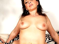 This unbelievable big breasted red silky lingeria for frenzied dildo ele