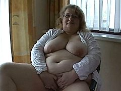 This big old lady wants his cock and cum