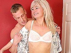 Naughty British blonde english bbw milf swinger housewife fooling burnin