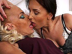 Two grey horny lonely breasted latina talia lesbian kisses blonde bbw ho