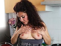 Spanish housewife Zazel Ashley playing naughty julie toying toys with