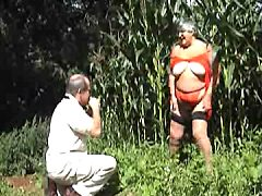 I arranged an nasty outdoor teasing in a nearby field of sweetcorn. The