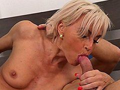 Hot Milf blowing her sucks and gets fucked hard