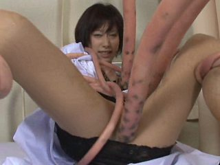 Babe stroking and sucking tentacles