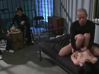 Two horny dudes watch voyeur scene where balt-headed guy fucks hot asian