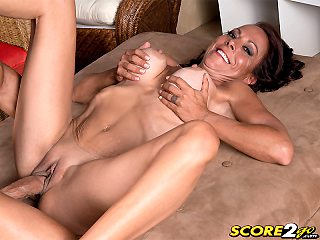 Karyn Martin enjoys her first video fuck